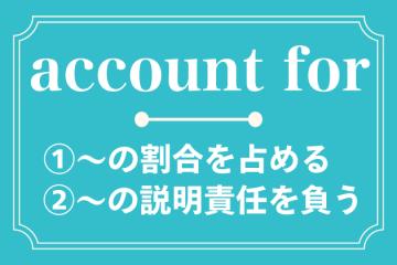 account for の使い方を解説